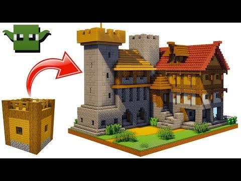 Minecraft Medieval Fortified House Tutorial Easy 5x5