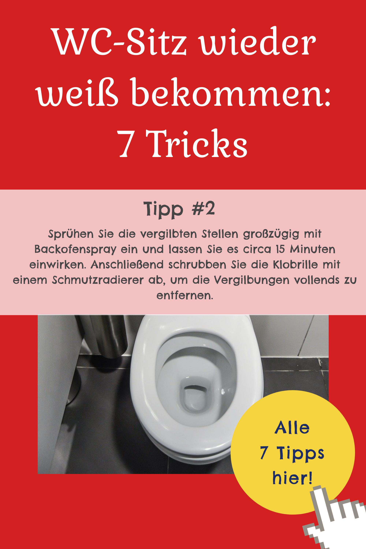 WC-Sitz wieder weiß bekommen (7 Tricks gegen Vergilbung)