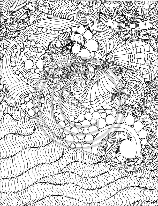 A Coloring Book for Big Kids | Coloring pages, Adult ...