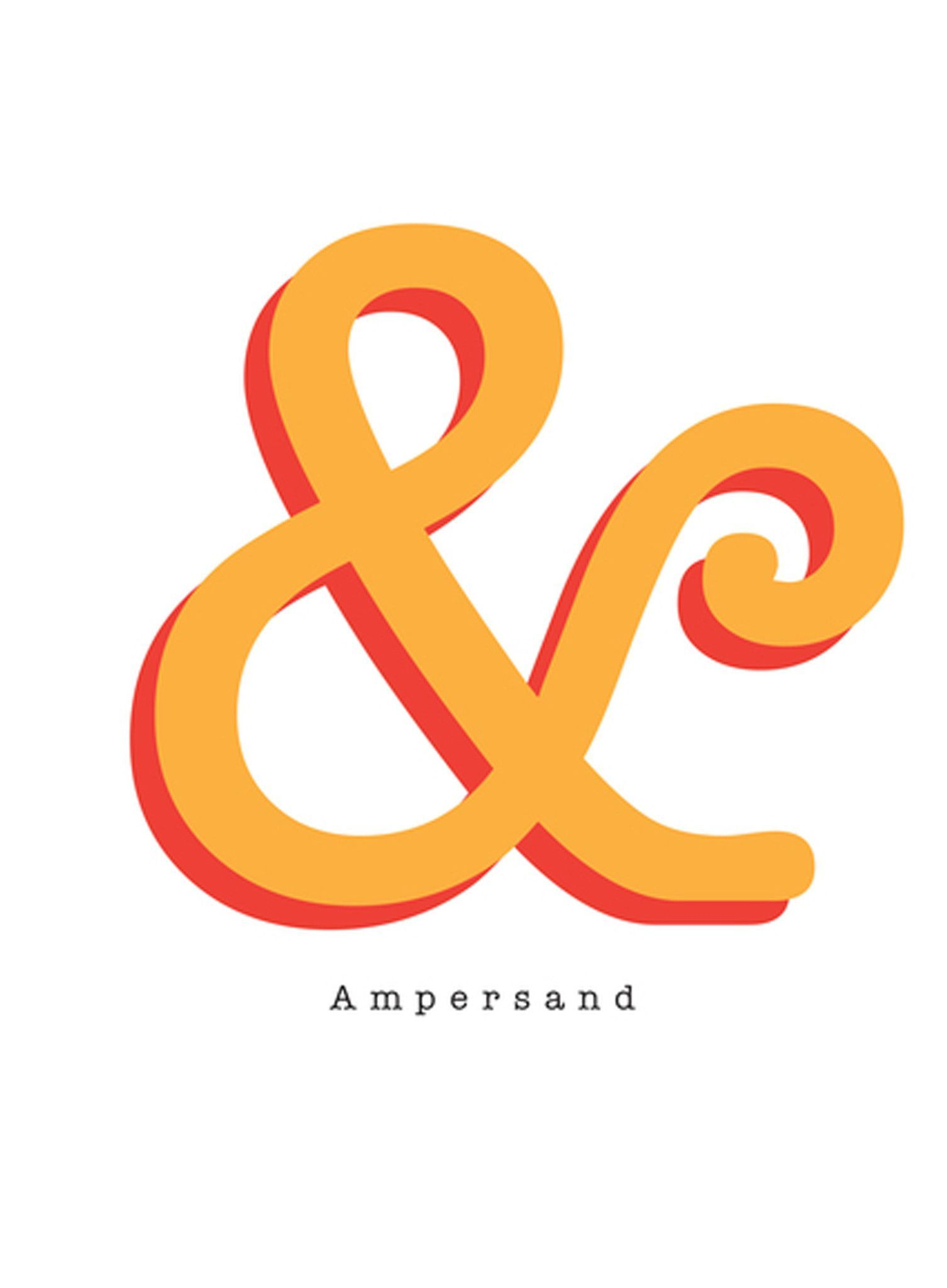 Ampersand Art Print Typographic Wall Art - Show your love for the ...