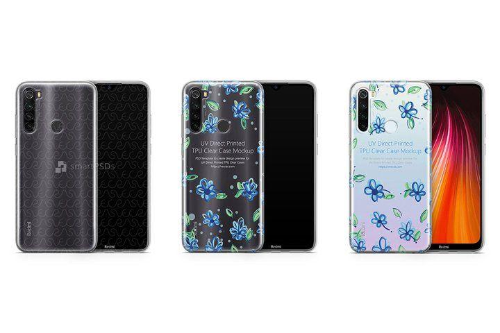 Redmi Note 8 2019 TPU Clear Case Mockup