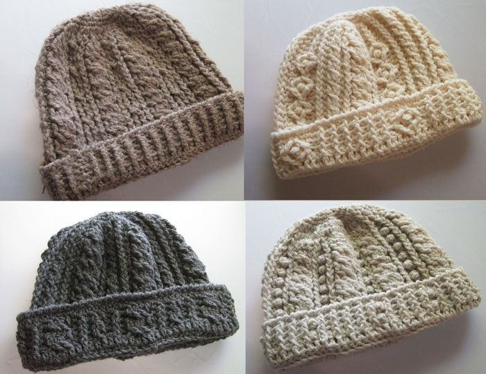 Rugged Mountain Hat Collection Crochet Pattern Patterns for Men. $6.50, via Etsy.