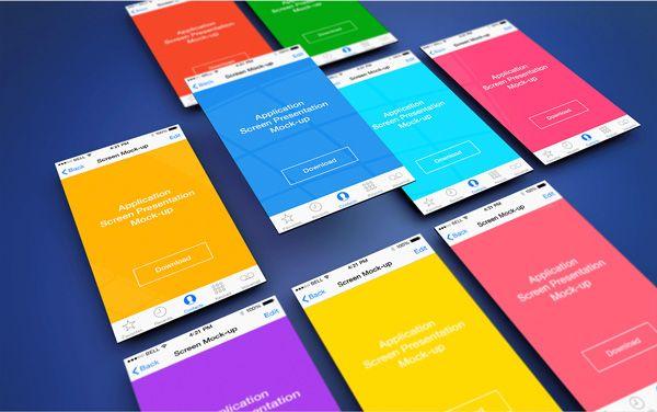 Free Download : App Screen Presentation Mockups