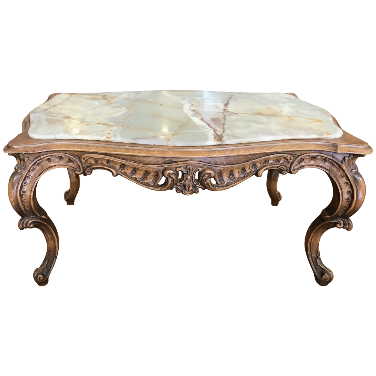 Excellent Italian Rococo Style Walnut And Onyx Coffee Table Rococo Machost Co Dining Chair Design Ideas Machostcouk