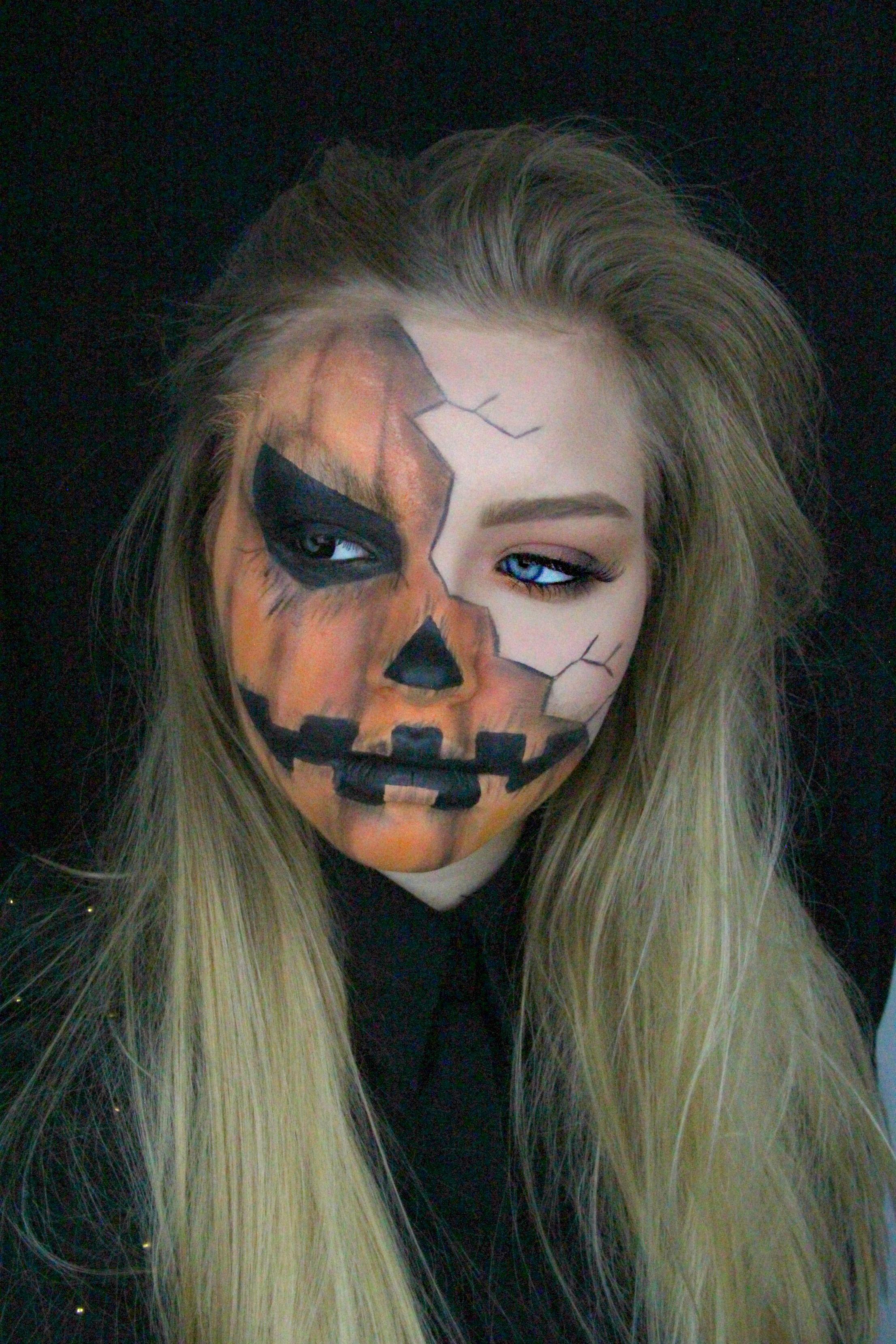 Halloween Creepy Pumpkin Makeup Tutorial Halloween