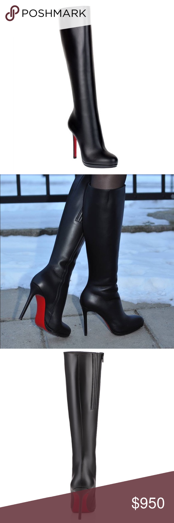 brand new 4efcb 9f006 christian louboutin botalili leather boots