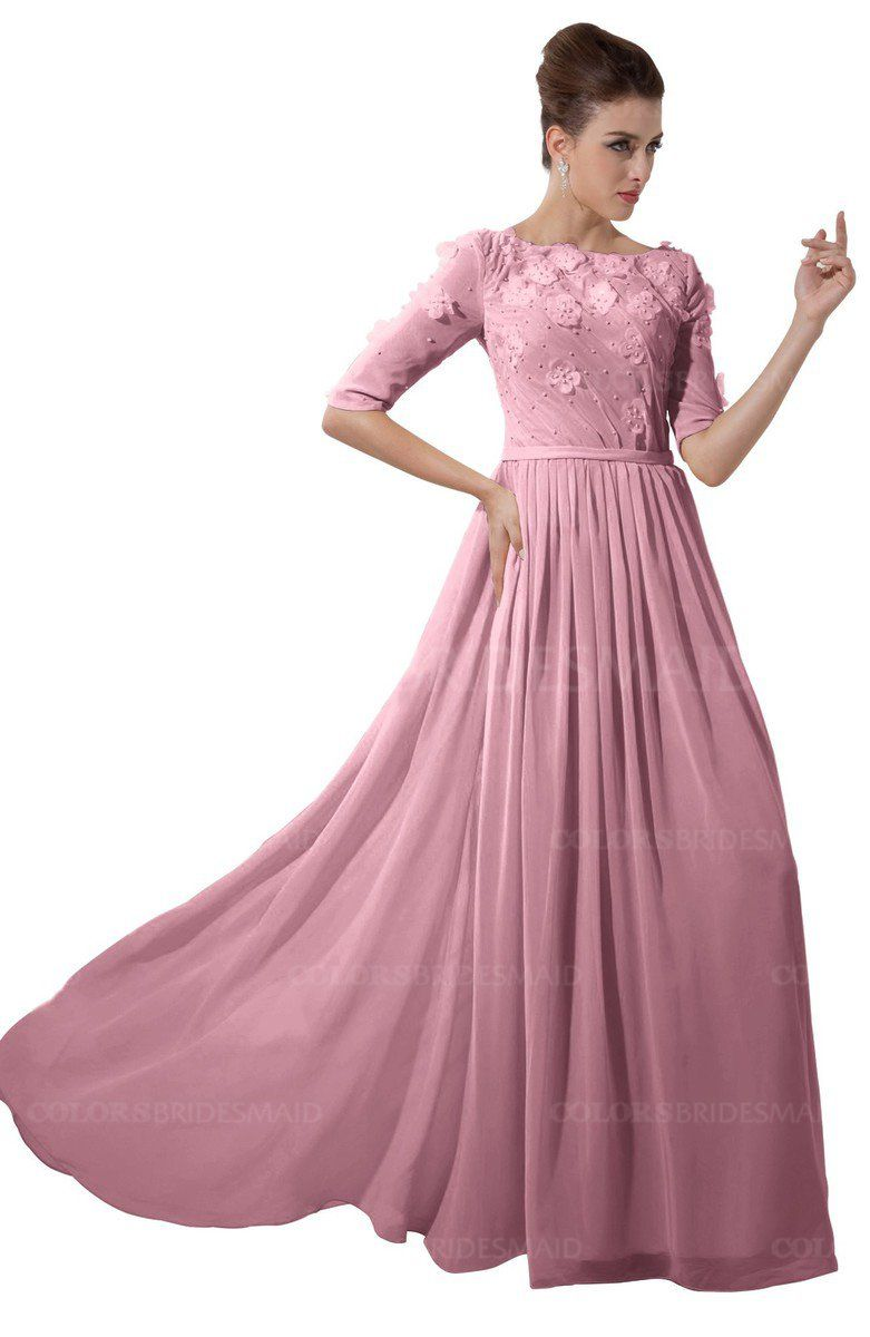 0c2623034f98 Rosebloom Casual A-line Sabrina Elbow Length Sleeve Backless Beaded Bridesmaid  Dresses at a discount price on colorsbridesmaid.com.