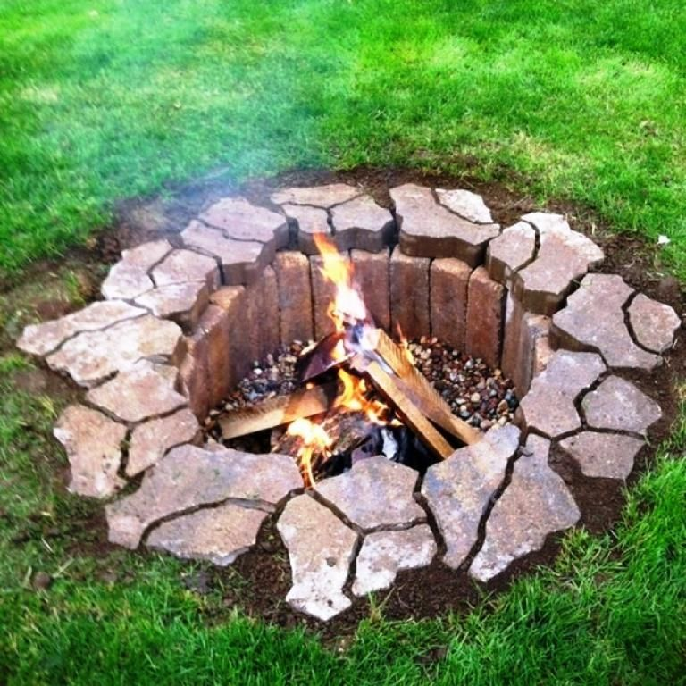 Building In Ground Firepit Fire Pit Landscaping Homemade Fire Pit Fire Pit Backyard