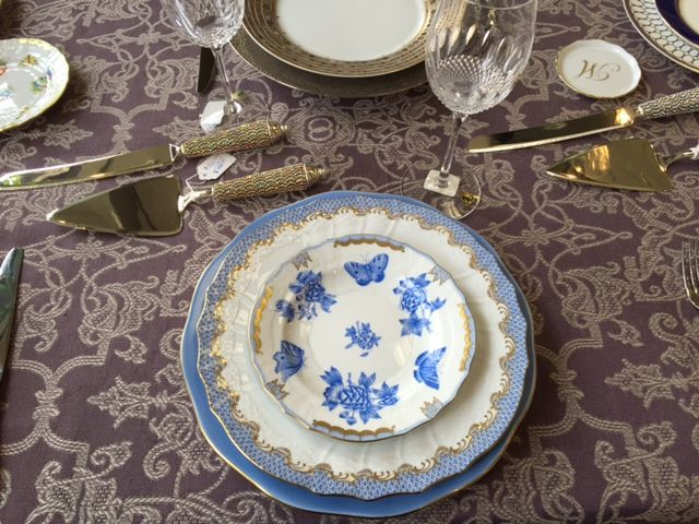 China Herend Silk Ribbon Cornflower Blue Charger Fish Scale Light Blue Dinner Plate and & China: Herend Silk Ribbon Cornflower Blue Charger Fish Scale Light ...