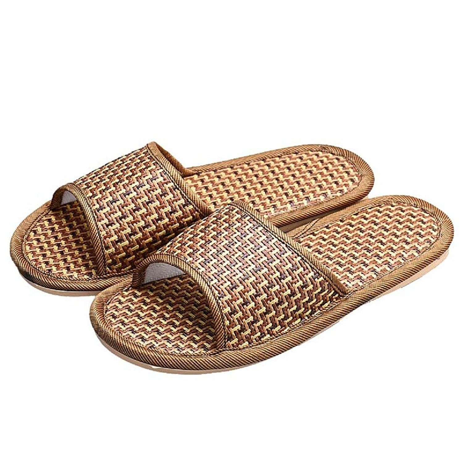 Genetic Man Women Summer House Indoor Antiskid Slippers Bamboo Leisure Sandals Click Image To Review More Rubber Slippers Summer Fashion 2016 Womens Sandals