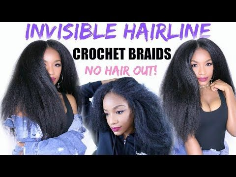 how to slay your crochet braids new invisible hairline method cheveux afro pinterest. Black Bedroom Furniture Sets. Home Design Ideas