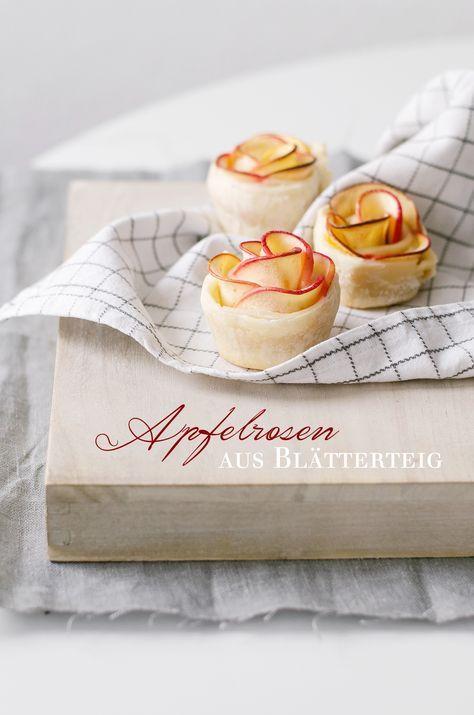 Apfelrosen aus Blätterteig #blätterteigrosenmitapfel