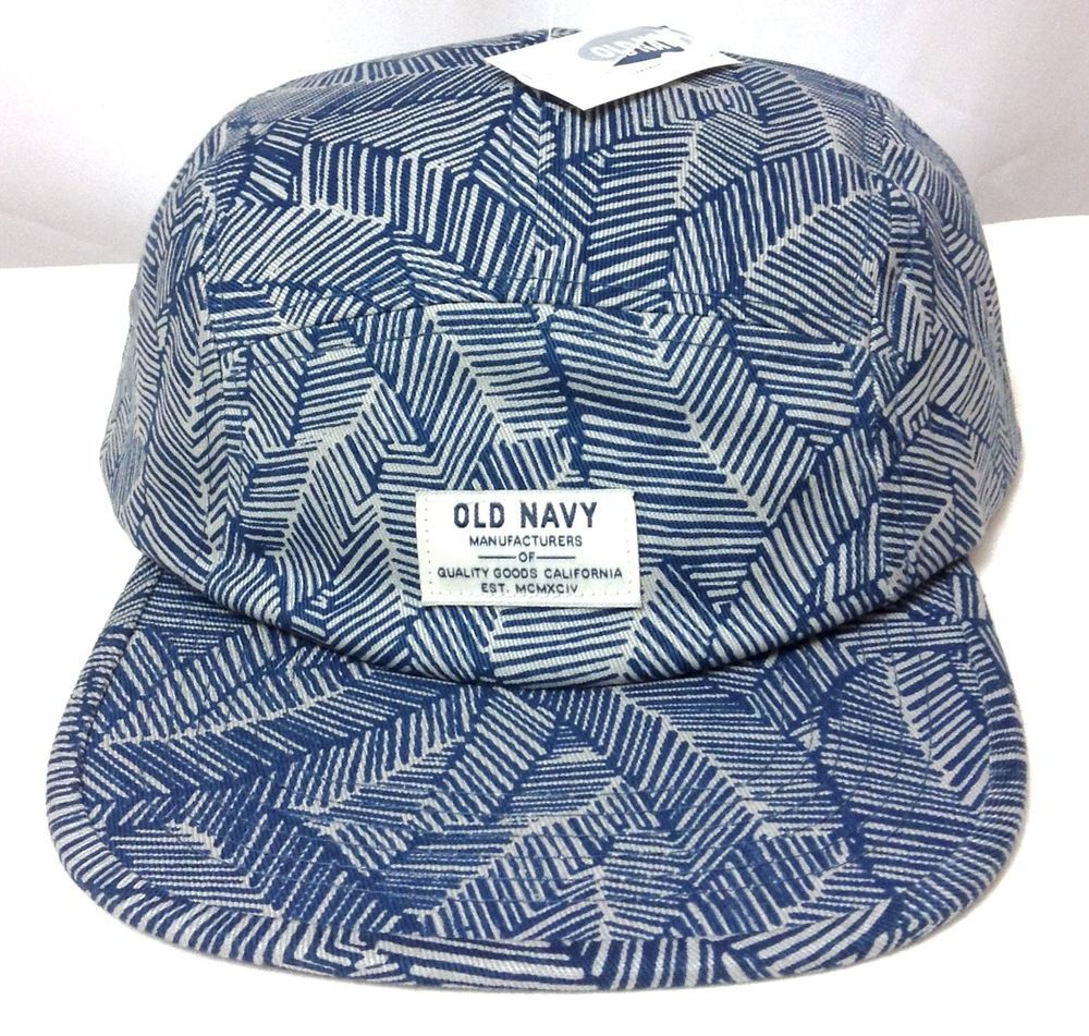 NEW Old-Navy FIVE PANEL CAMPER HAT Blue Hawaiian-Fern Beach 5 Cap Men Women Teen   OldNavy  Camper 59b2c54d08bf