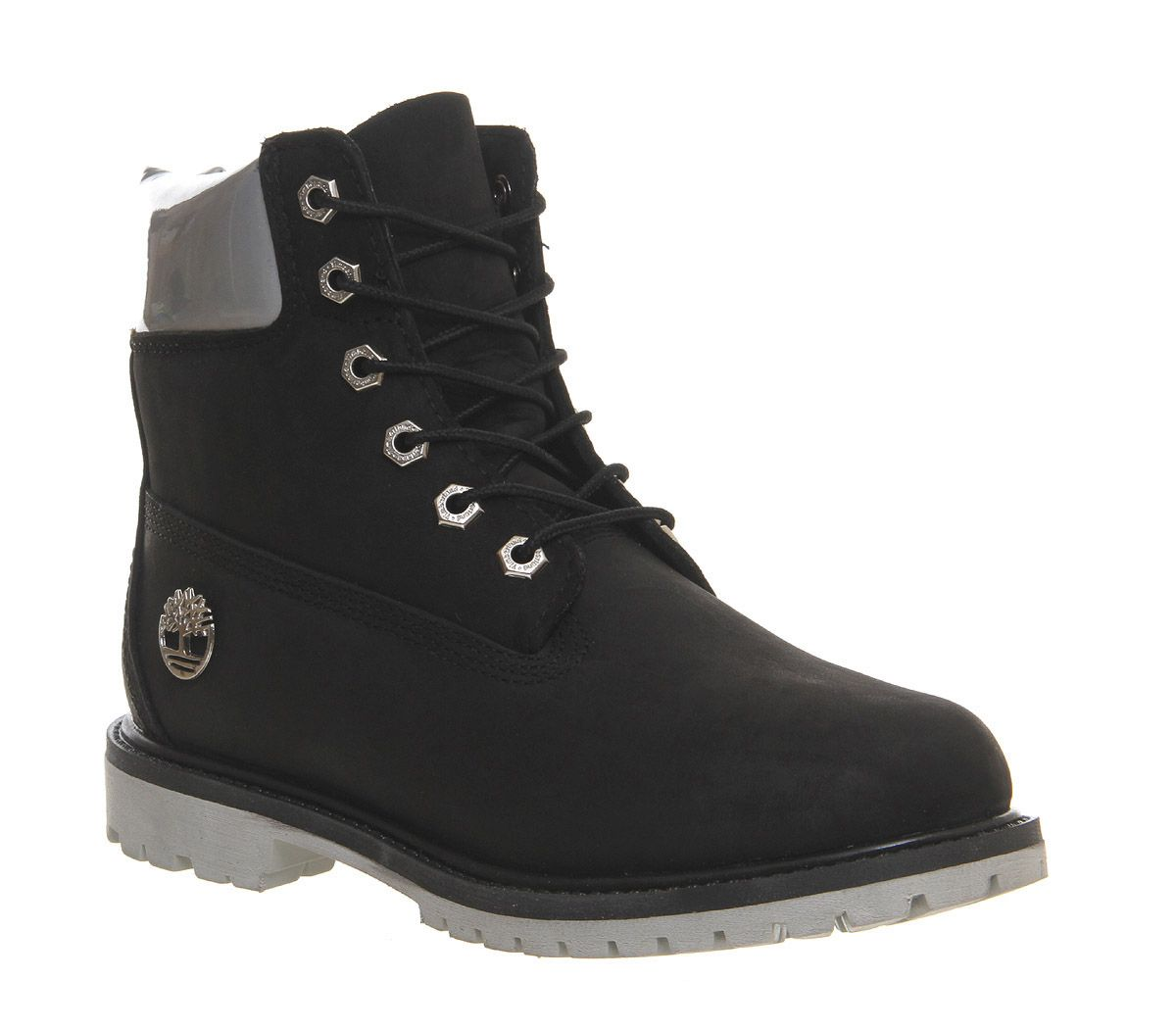 Timberland Premium 6 Boots Black Iridescent Cuff - Ankle Boots