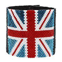 Union Jack Peyote Stitch Bracelet