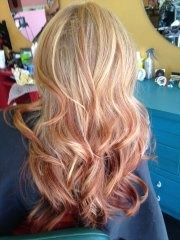 Blonde To Strawberry Blonde Ombre Reverse Ombre
