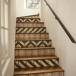 ok, D might be able to talk me into wooden stairs if we did something fun like this on the fronts