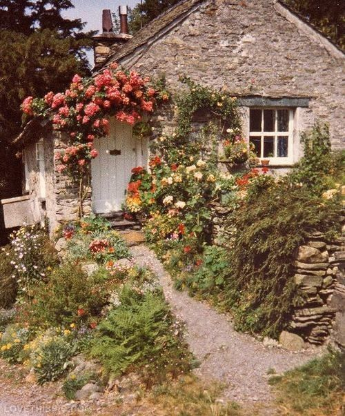 English country cottage hunt theme decor follow me on pinterest english stone country cottage and gardens love the flowering over the door workwithnaturefo