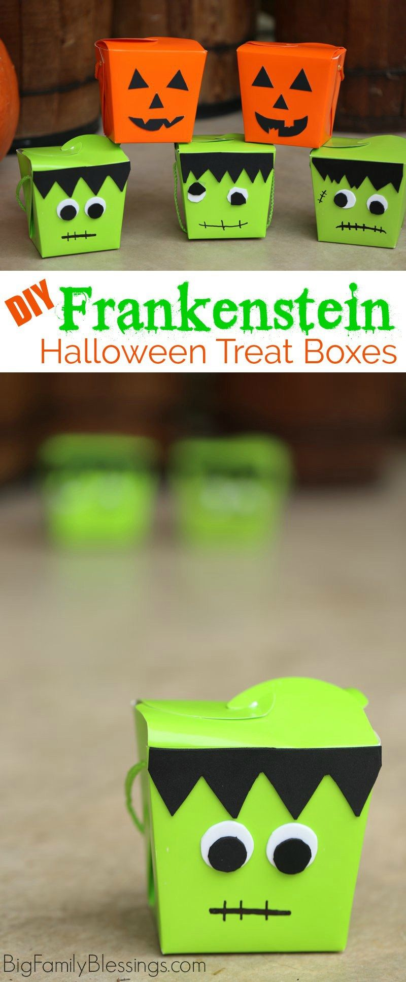 DIY Frankenstein Craft Make a Halloween Treat Box