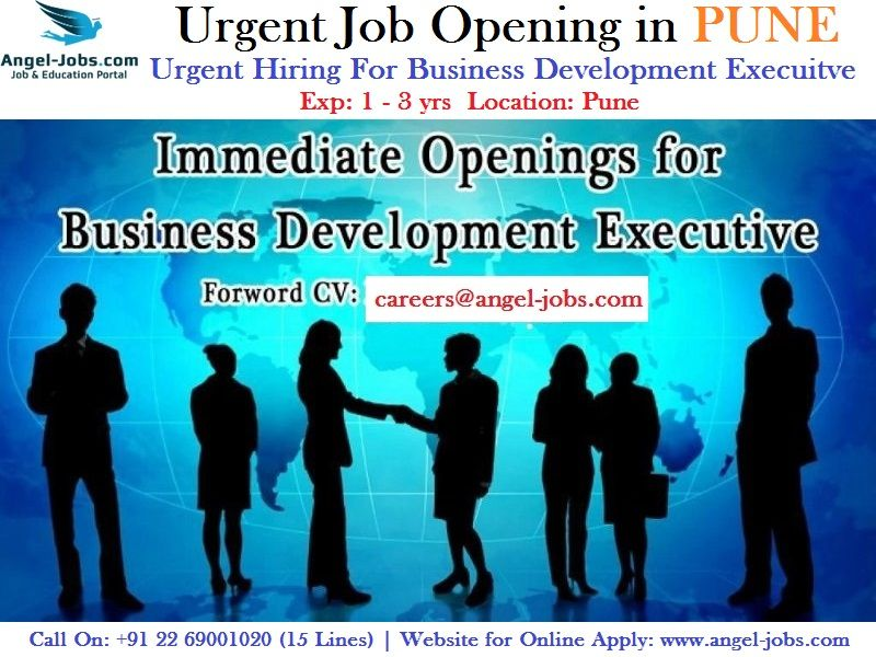 Urgentjobopening In Pune Careers Jobs Angeljobs Urgent Hiring
