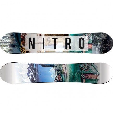 Nitro Team Exposure Wide snowboard white black
