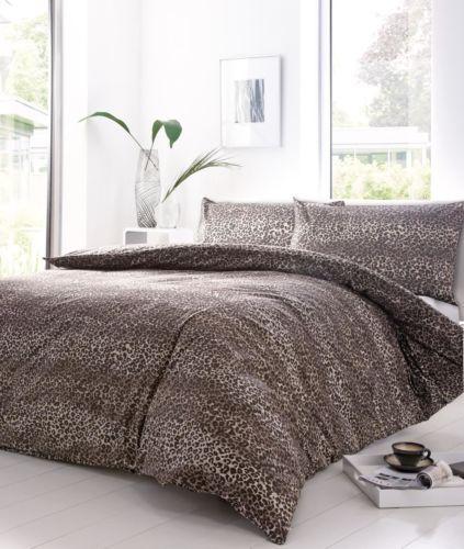 Leopard Print Cream Beige Single 120 Thread Count Cotton Blend Duvet Cover Duvet Cover Sets Double Duvet Covers Duvet Covers