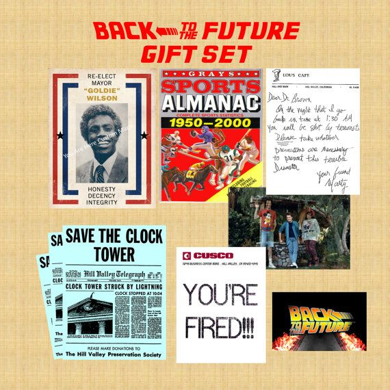 Back to the Future Ultimate Fan Gift Art Prints Props Marty McFly Photo Save the Clock Tower Flyer Sports Almanac Goldie Wilson Poster