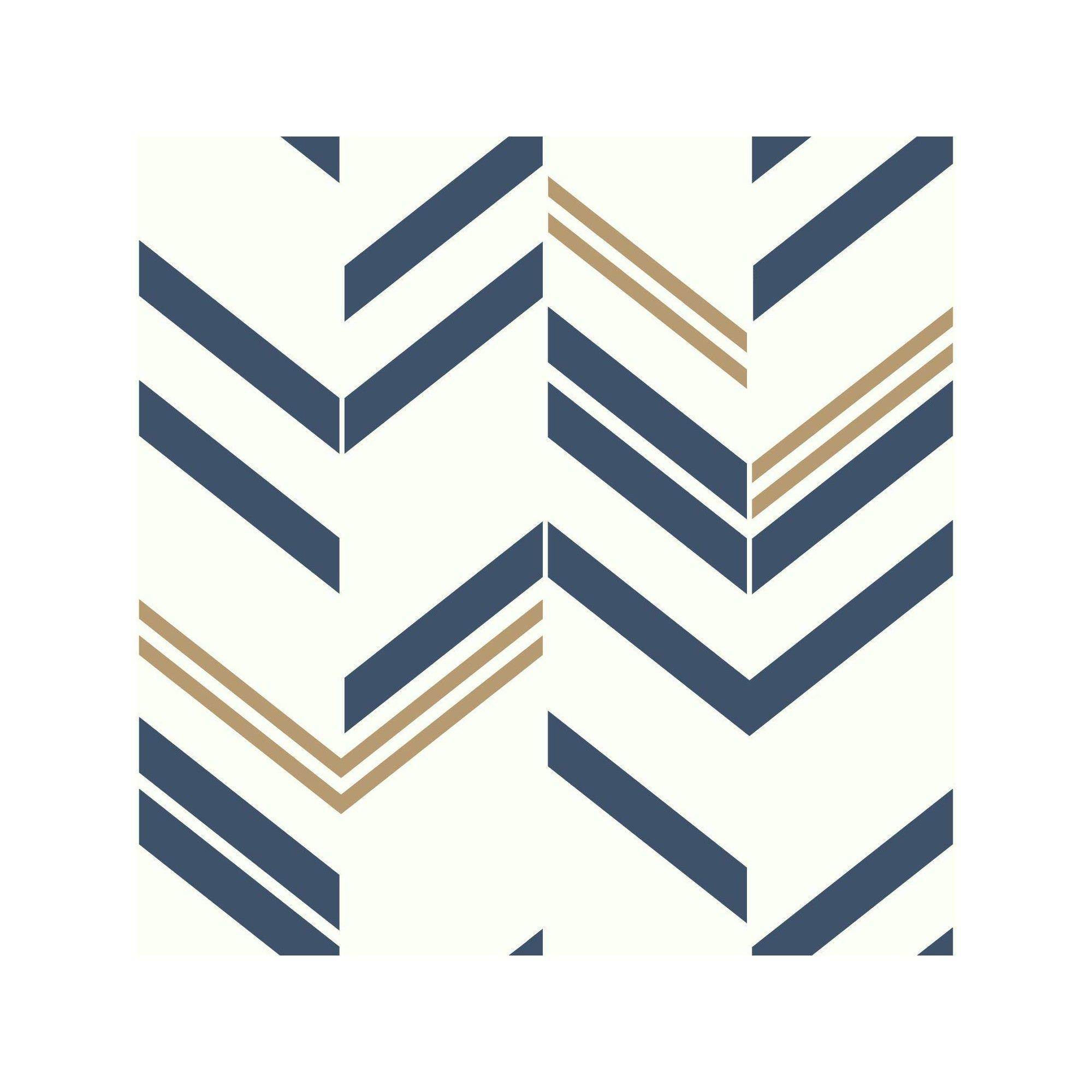 Roommates Chevron Stripe Peel Stick Wallpaper Blue In 2019