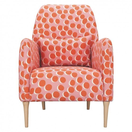 Daborn Pink And Orange Spotty Fabric Armchair Buy Now At Habitat