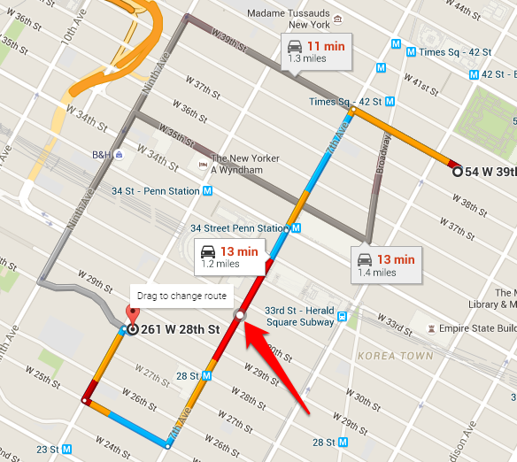How To Create A Custom Route In Google Maps Google Maps Map Driving Directions