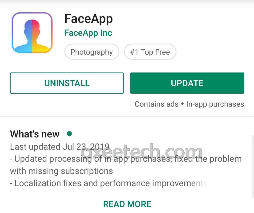 The latest 24t July 2019 update of the FaceApp Pro Apk 3 4