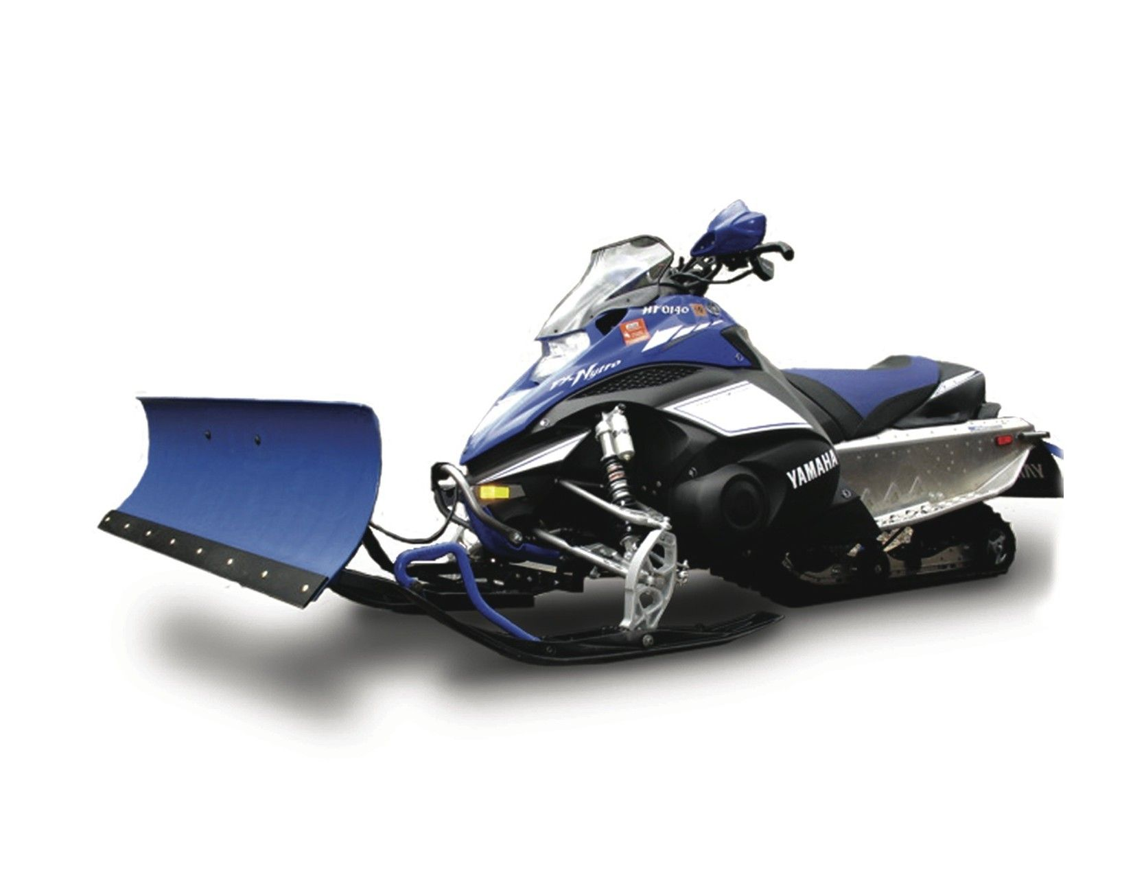 Cycle country ski force snowmobile plow system