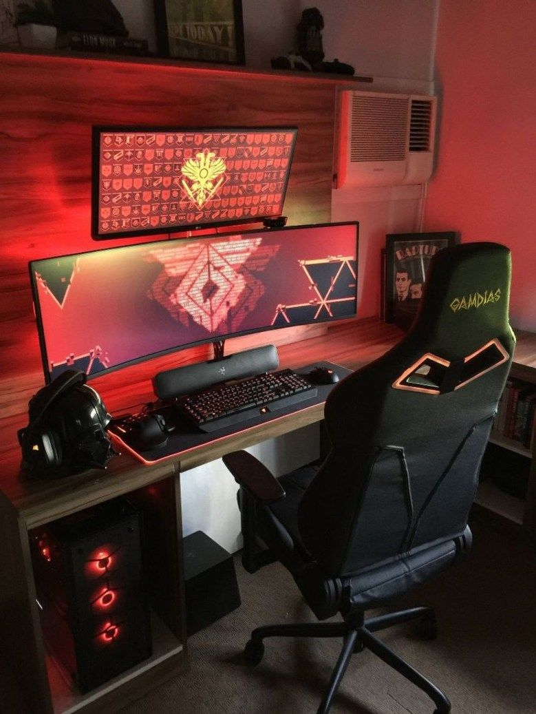 - The Best Gaming Desk Decor Ideas With Computer Setup 06 2019