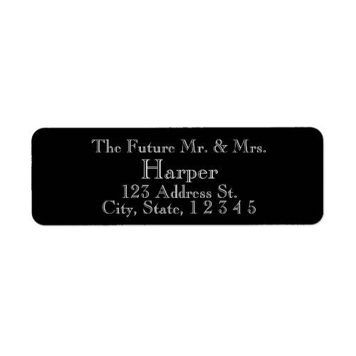 Band Deep Red Wedding Return Address Labels PaperStyle