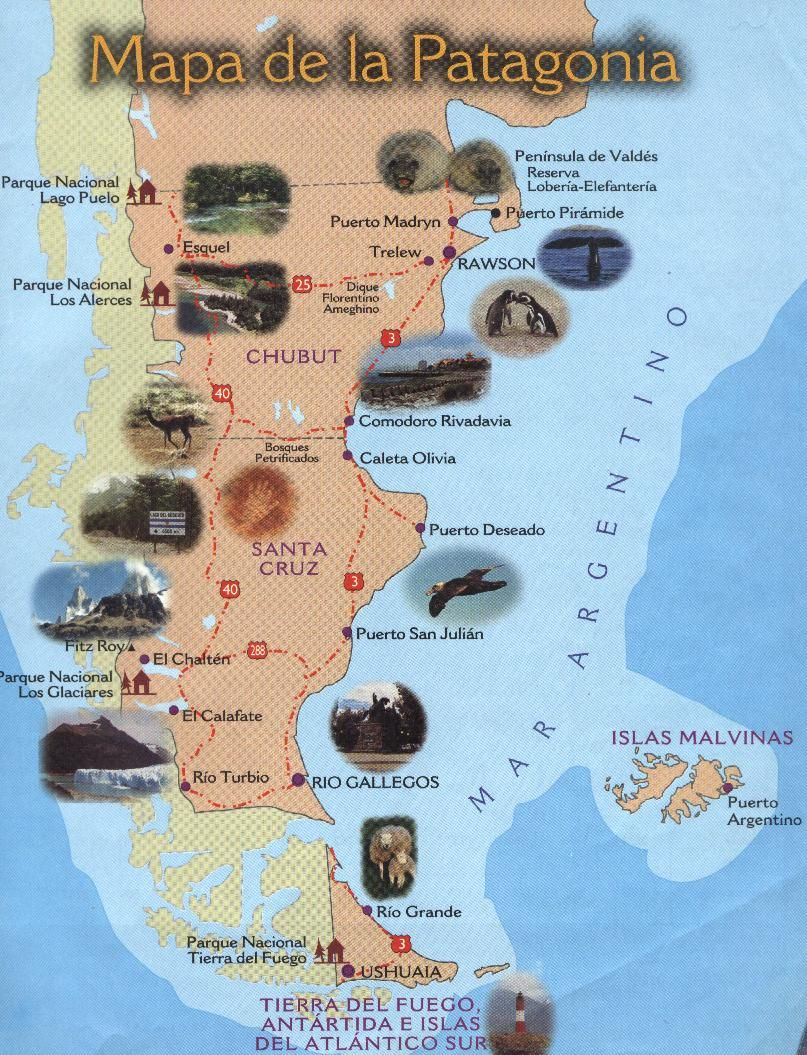 Tourist map of paragonia world of maps pinterest patagonia tourist map of paragonia gumiabroncs Image collections