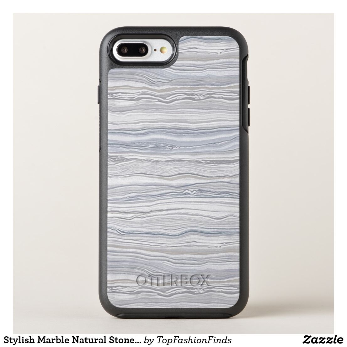 free shipping 80c2a a1fbe Stylish Marble Natural Stone Gray Trendy OtterBox Symmetry iPhone 8 ...