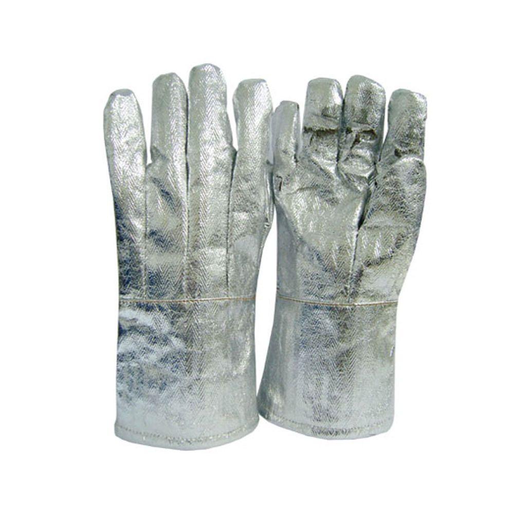 1Pair Work Welding Gloves Fireproof Heatproof Wearable Security Protection