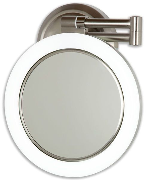 Zadro 10x 1x Magnification Hard Wire Dimmable Lighted Wall Mount Makeup Mirror Wall Mounted Makeup Mirror Mirror Wall Lighted Wall Mirror