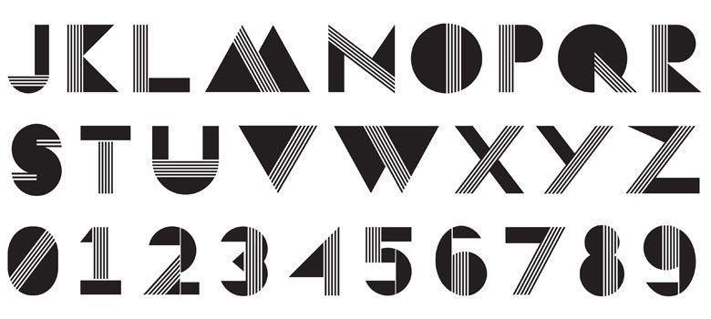 geometric fonts - Google Search | numbers | Pinterest | Shape ...