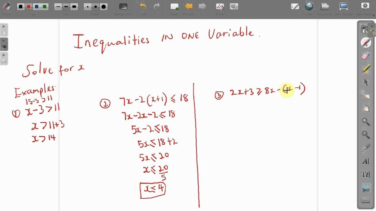Act Maths: How To Solve Inequalities In One Variable