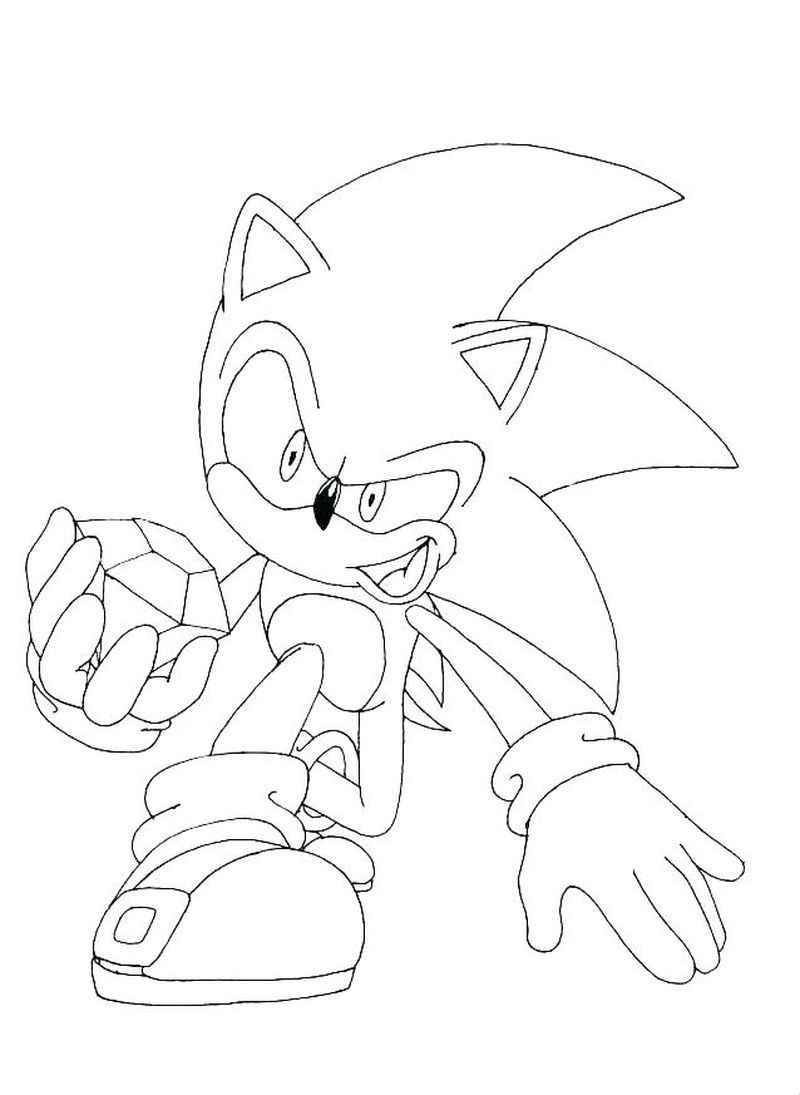 Sonic The Hedgehog Coloring Pages Cartoon Coloring Pages