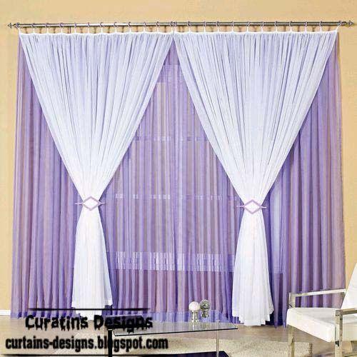 Nice Purple Curtains | Stylish Purple And White Curtain Design, Purple Windows  Treatment