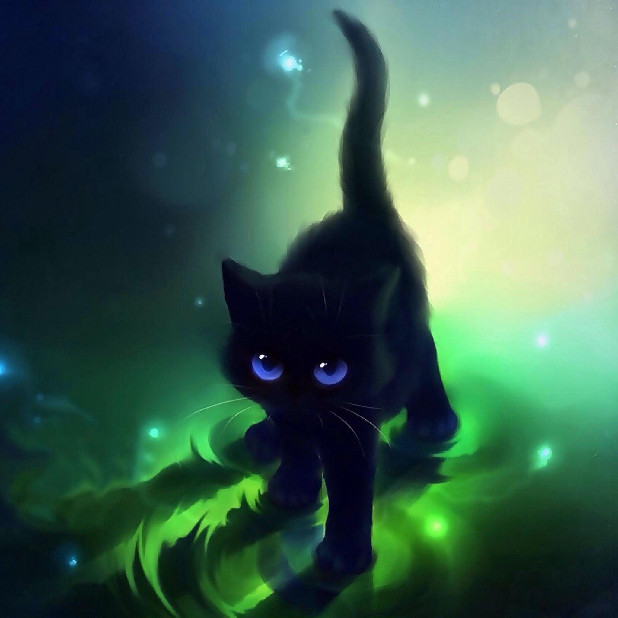 Dark Wallpaper Anime Cat Best Wallpaper Hd Cat Artwork Cat Art Cat Wallpaper