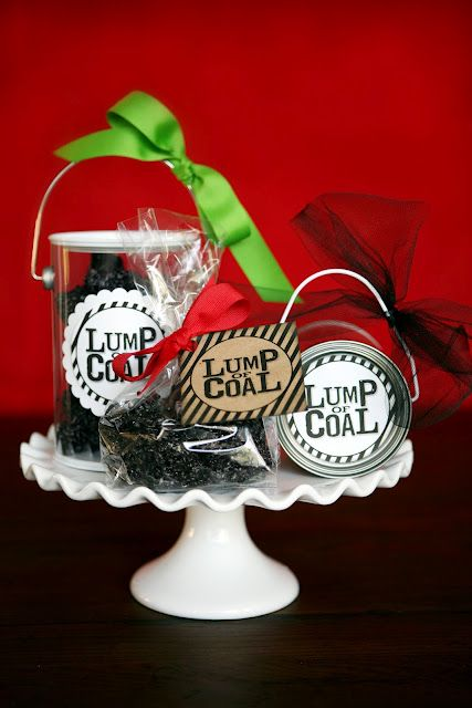 """make your own   """"lump of coal"""" gifts"""