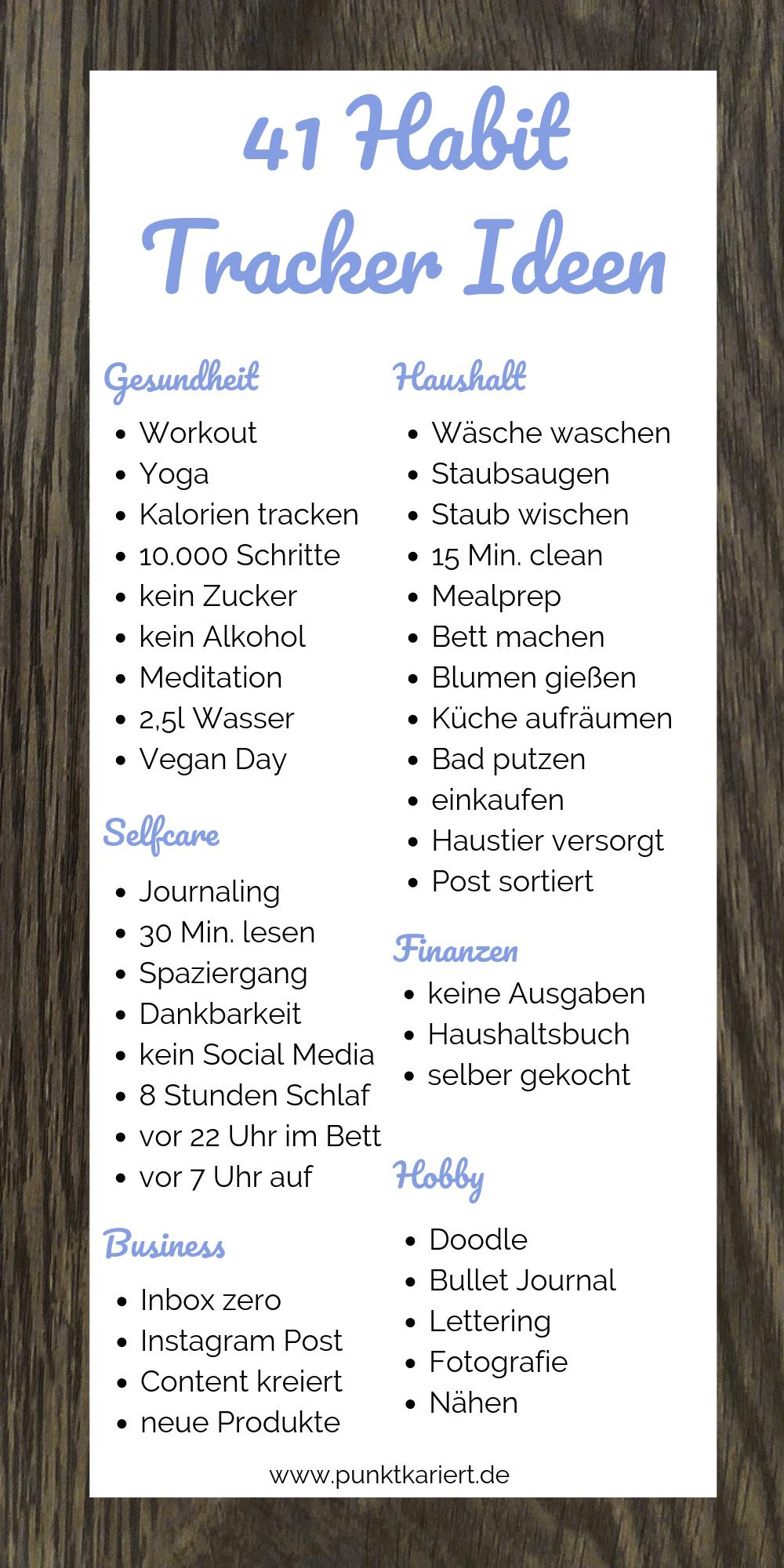 41 Habit Tracker Ideen für dein Bullet Journal #bulletjournal #tracker #fitness inspiration desenho...