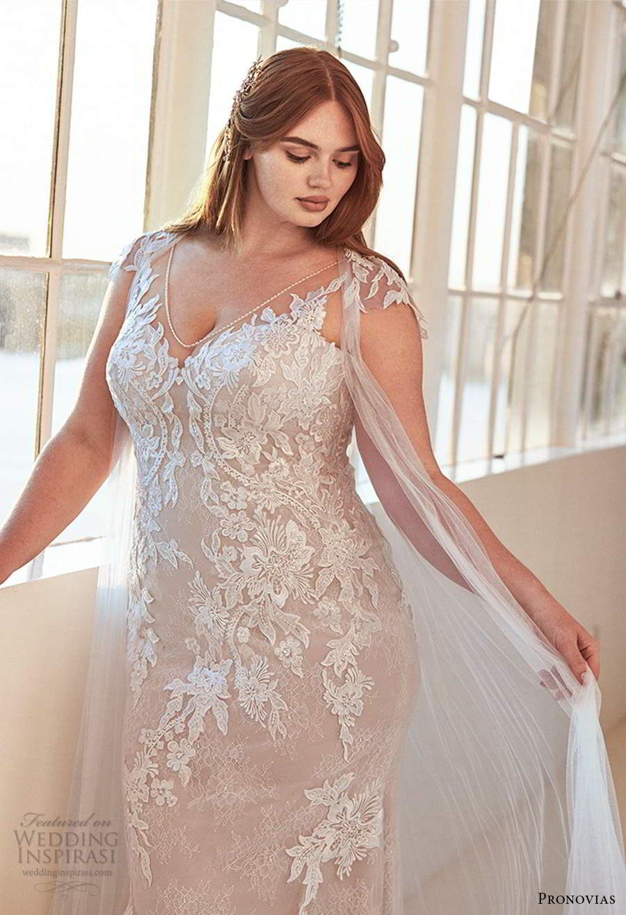 Ashley Graham X Pronovias 2020 Wedding Dresses A Gorgeous New Size Inclusive Bridal Collection Wedding Inspirasi Wedding Dresses Pronovias Wedding Dress Sheath Wedding Dress Lace [ 1316 x 900 Pixel ]