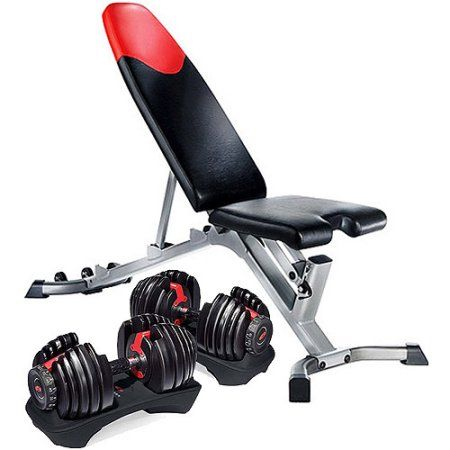 Bowflex Selecttech 552 Dumbbells And Bowflex 3 1 Weight Bench Value Bundle Black Weight Benches Bowflex Dumbbells