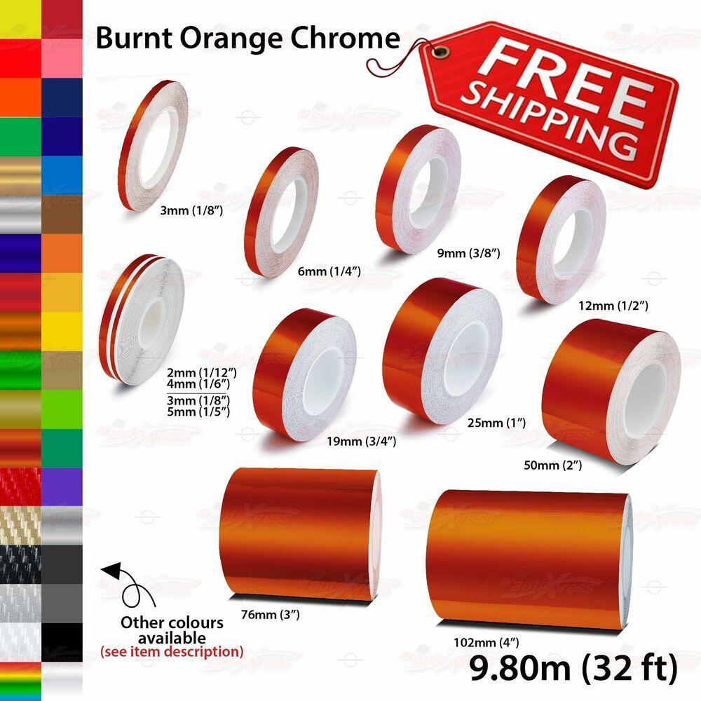 Burnt Orange Chrome Roll Pin Stripe Pinstriping Line Tape Decal Vinyl Stickers Unbrandedgeneric Car Decals Vinyl Pinstriping Vinyl Sticker [ 1000 x 1000 Pixel ]
