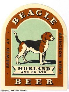 Beagle Beer Brewed At Abingdon Oxfordshire England Beagle