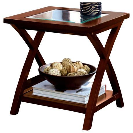 Hometrends Glass Top End Table For Sale At Walmart Canada Find Furniture Online At Everyday Low Prices At Walmart Ca Glass Top End Tables End Tables Table